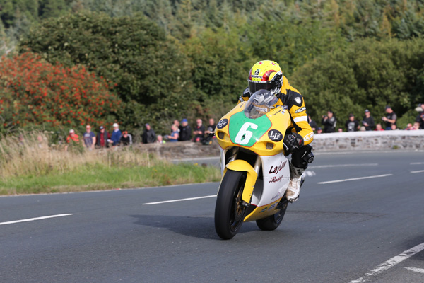 an Lougher powers out of the Gooseneck and starts the long climb to the Mountain Box during the Sure Lightweight Race