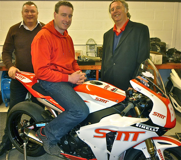 Dan Stewart with team owner Robin Croft