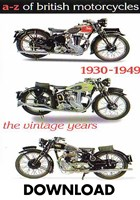 A-Z of British Motorcycles Vol 2 1930- 49 Download
