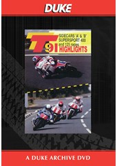 TT 1991 Sidecar A & B & Supersport 400 Races Duke Archive DVD