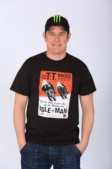 TT 2013 Classic Poster T Shirt Black - click to enlarge