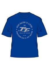 TT  Racing Is Living T-Shirt Royal Blue