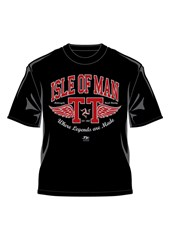 TT  Retro T-Shirt Red Wings Black