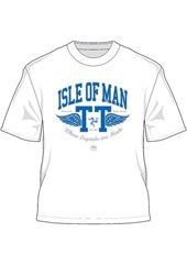 TT 2014 Retro T-Shirt Blue Wings White