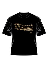 TT 2014 Retro T-Shirt Gold Legends Black