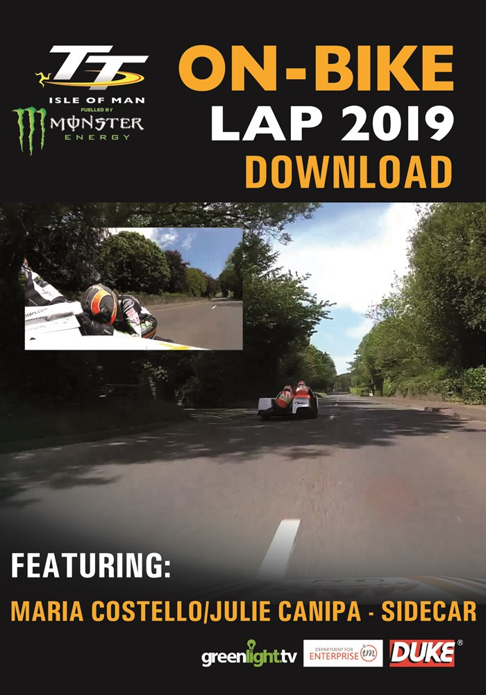 TT 2019 On Bike - Maria Costello & Julie Canipa - Sidecar Race 1 - Download