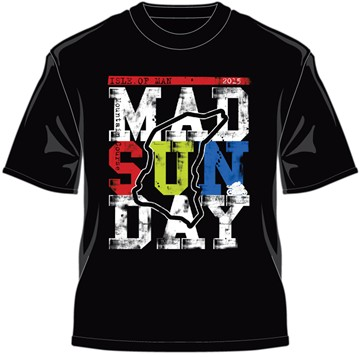 TT 2015 Mad Sunday Multi Coloured T-Shirt Black - click to enlarge