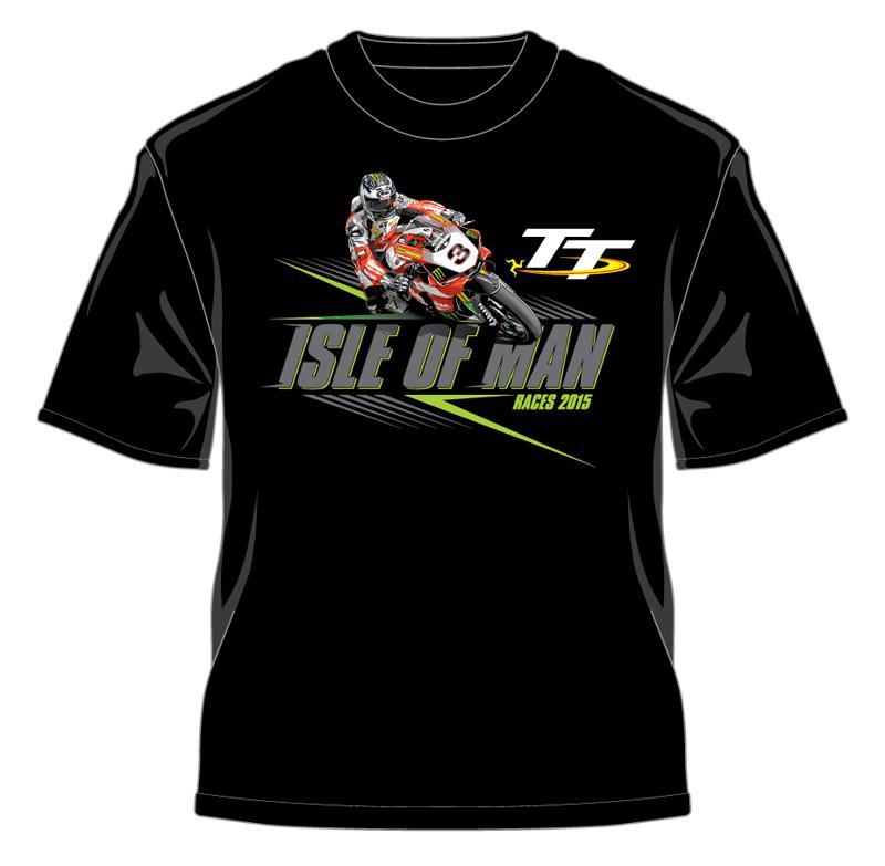 Tt 2015 bike 3 t shirt black isle of man tt official for Bike and cycle shoppe shirt