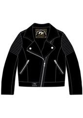 Ladies Leather Black Faux Jacket