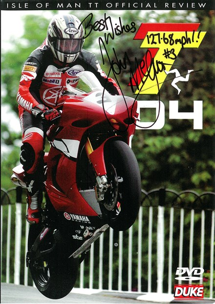 TT 2004 Review DVD Signed by John McGuinness