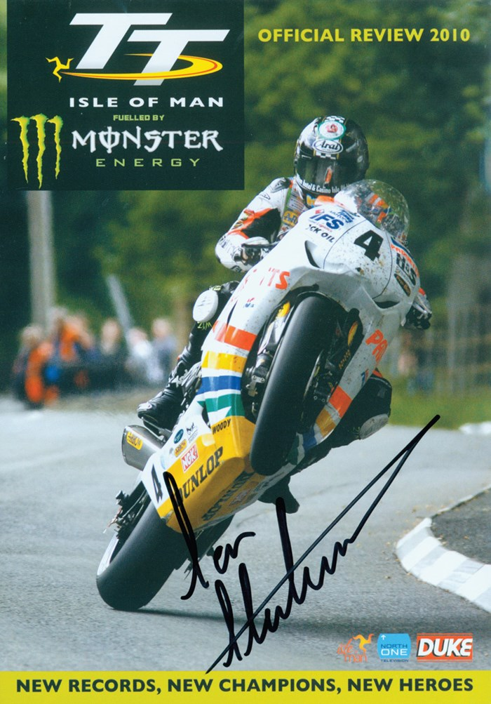 TT 2010 Review Blu-ray incl standard PAL DVD Signed by Ian Hutchinson