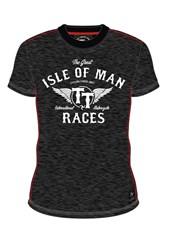 TT  IOM Races Wings Custom T-shirt Black