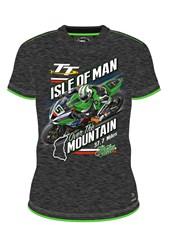 Peter Hickman over the Mountain Custom T- Shirt Grey