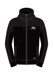 TT Hoodie Black, Material Shoulder Full Zip