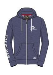 TT Hoodie Blue Full Zip