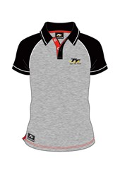 TT Grey Polo Black Sleeves