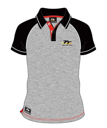 TT Grey Polo Black Sleeves - click to enlarge
