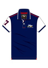 TT Blue Polo White Sleeves
