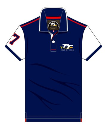 TT Blue Polo White Sleeves - click to enlarge