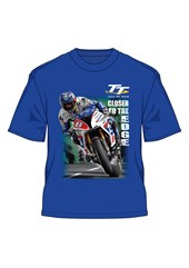 TT 2016 Guy Martin Closer to the Edge T- Shirt Royal Blue