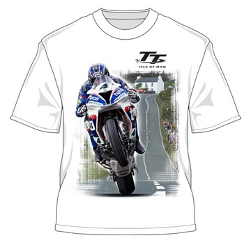 Ian Hutchinson Creg-ny-baa T-shirt White - click to enlarge