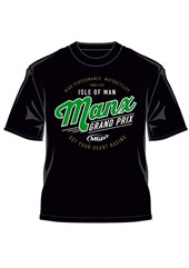 Manx Grand Prix - Get Your Heart Racing T-shirt Black