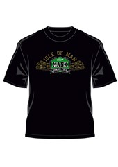Manx Grand Prix Gold Bikes T-Shirt Black