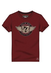 TT Wings Vintage T-Shirt Plum