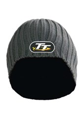 TT Grey Ribbed Beanie
