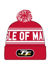 TT 2016 Red / White Bobble Hat