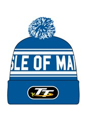 TT 2016 Blue / White Bobble Hat