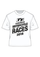 Isle of Man Motorcycle Races 2016 T-Shirt White