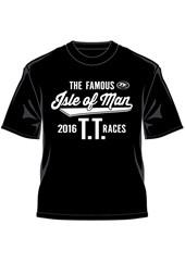 TT 2016 The Famous TT Races T-Shirt Black
