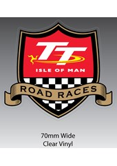 TT Road Races Shield Sticker