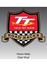 TT Road Races Shield Sticker