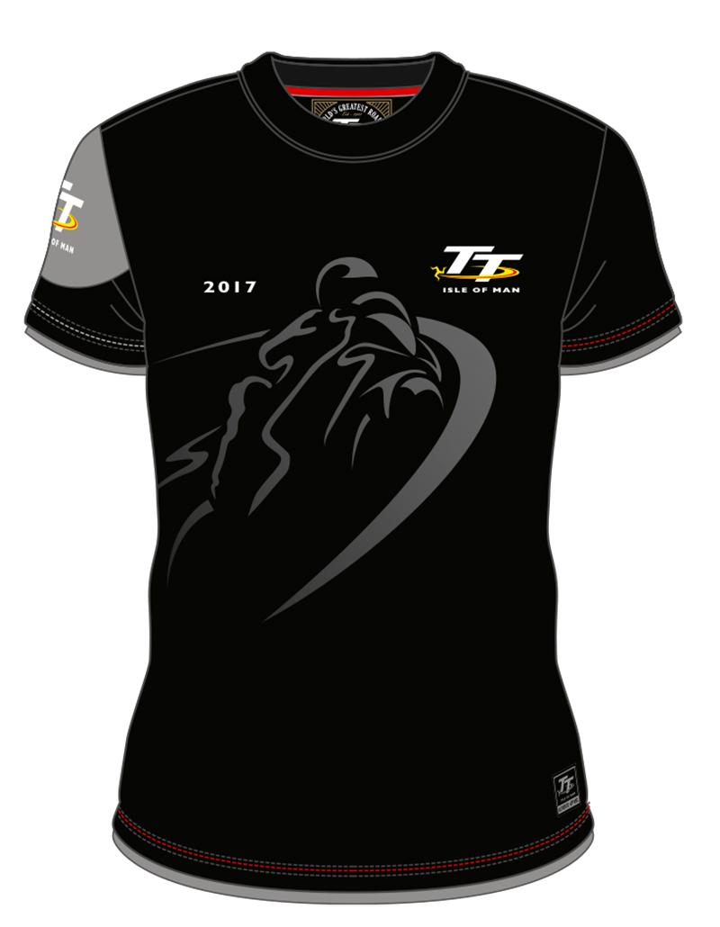 Black t shirt for man - Tt Shadow Bike Custom T Shirt Black