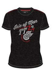 Isle of Man TT Motorcycle Races Custom T-shirt Black