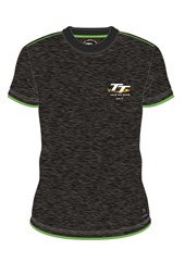 TT 2017 Small Logo Custom T-shirt Grey/Green Trim