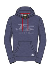 TT Hoodie Blue, Light Blue Logo