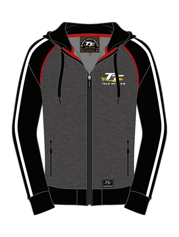 TT Zip Hoodie Grey/ Black - click to enlarge