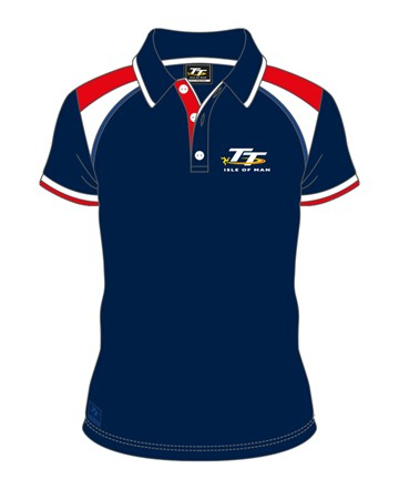 TT 2017 Red, White and Blue Polo - click to enlarge