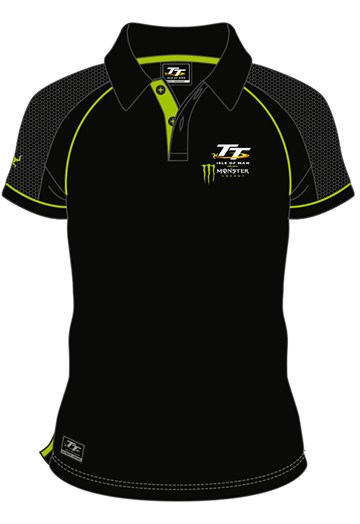 Isle of Man TT Monster Polo - black - click to enlarge