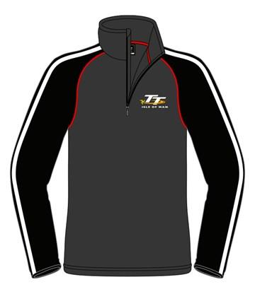 TT Quarter Zip Fleece Grey/Black - click to enlarge