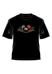 TT 2017 Gold Bikes T- Shirt Black