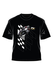 TT Bike 6 Check Effect T-Shirt Black