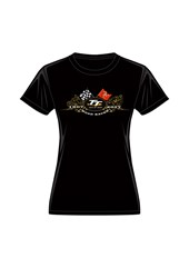 TT Gold Bikes Ladies T-shirt Black