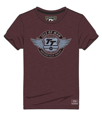 TT Vintage T-shirt TT Wings Maroon - click to enlarge
