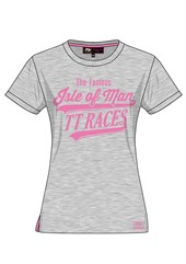 Ladies IOM TT Races T- Shirt Grey
