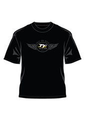 TT Logo Wings Retro T-shirt Black