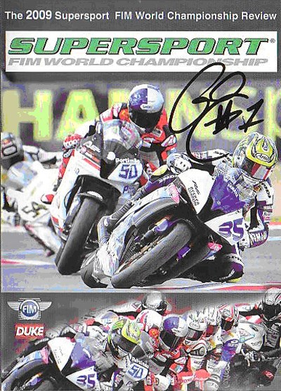 World Supersport Review 2009 DVD Signed by Cal Crutchlow.
